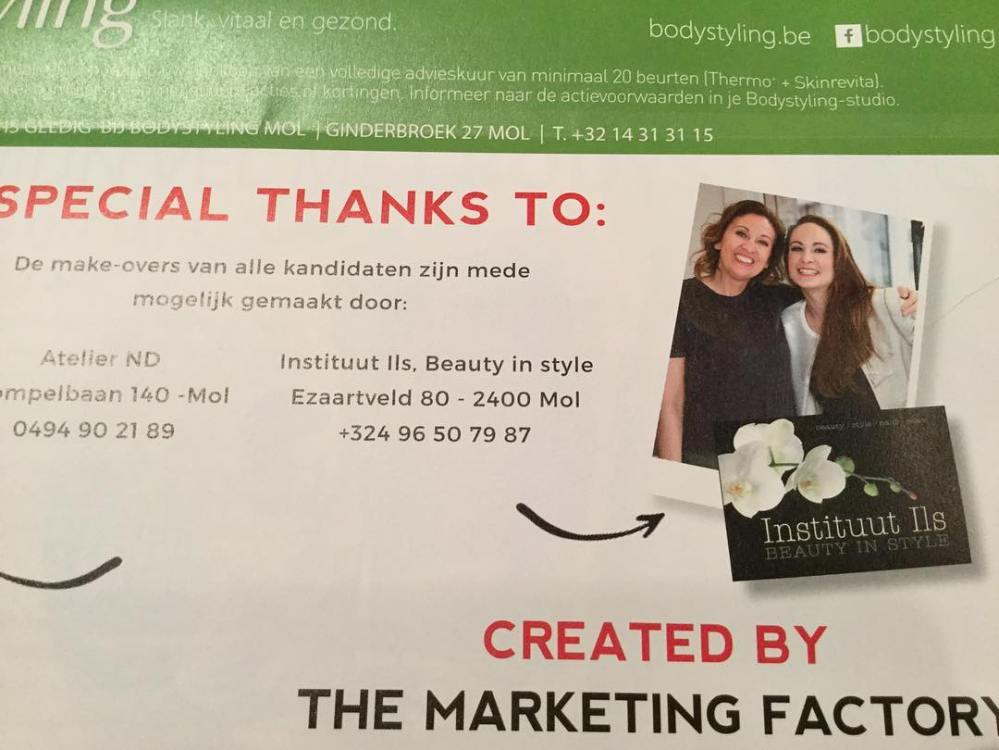 Makeup fotoshoot reclame folder mol